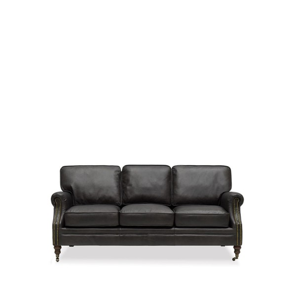 Brunswick Sofa - 3 Seater, Aged Onyx