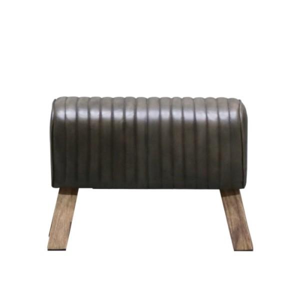 Chandri Ribbed Leather Pommel Bench