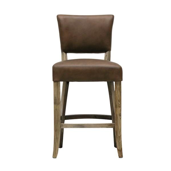 Crane Leather Barstool - Brown
