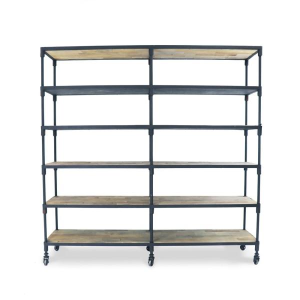 Industrial Metal Bookshelf