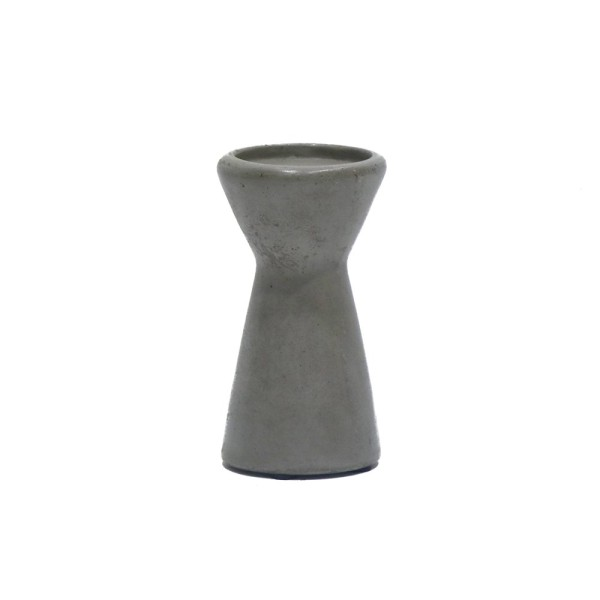 Rhine Concrete Candle Stand - Short