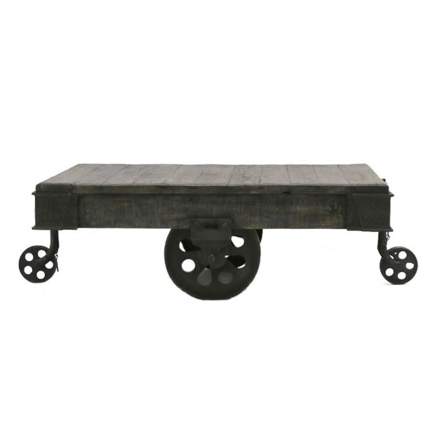 Baggage Trolley Coffee Table - Black