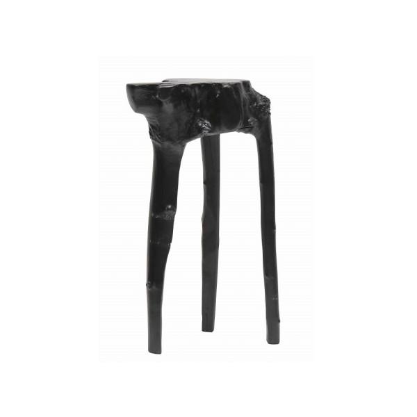 Crusoe Salvaged Side Table  - Black