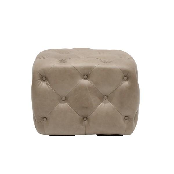Stanhope Cube Ottoman - Riverstone