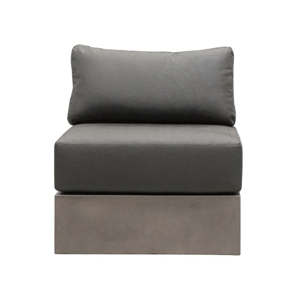 Cube Concrete Sofa with Cushions- Straight
