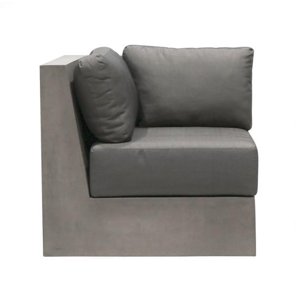 Cube Concrete Sofa w/Cushions - Corner