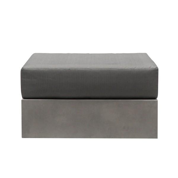 Cube Concrete Ottoman w/Cushion