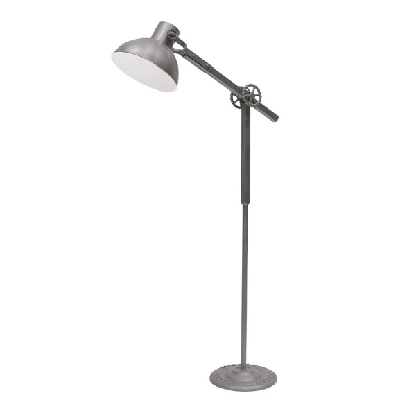 Bank Metal Floor Lamp - Grey