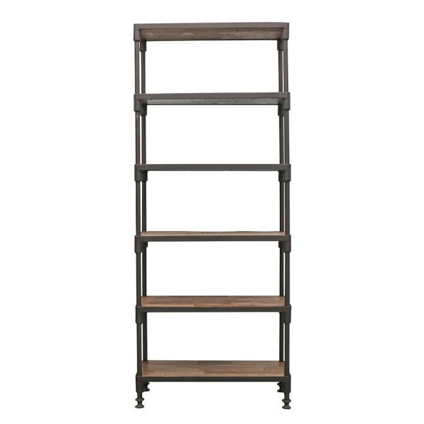Industrial Metal Bookshelf - Narrow