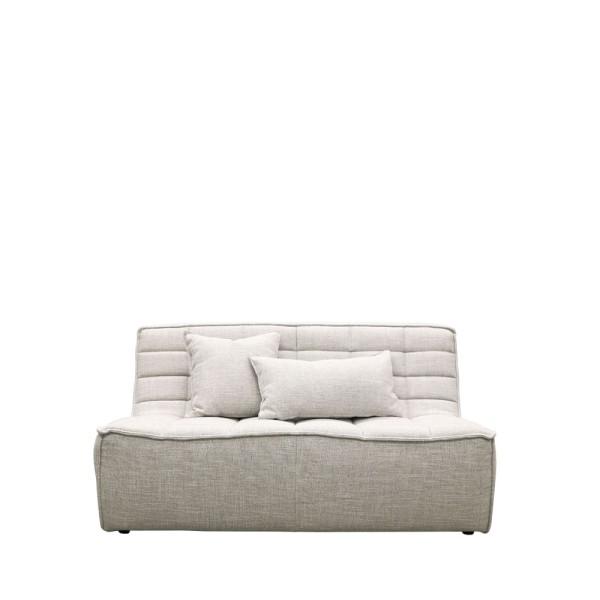 Soho 2 Seater Modular Sofa - Light Grey