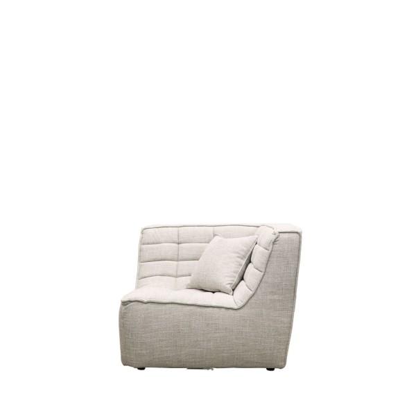 Soho Modular Corner Seat - Light Grey