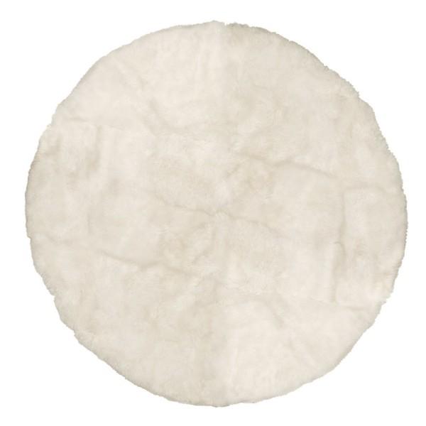 Sheepskin Floor Rug  - Ivory, Round 250cm