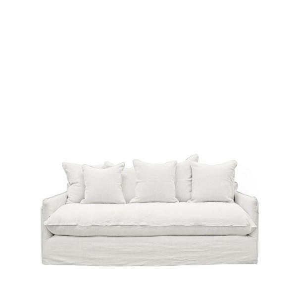 Lotus Slipcover Sofa 2 seater - White