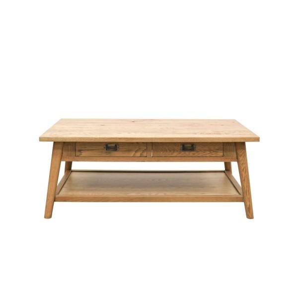 Vaasa Oak Rectangle Coffee Table - 2 Drawer