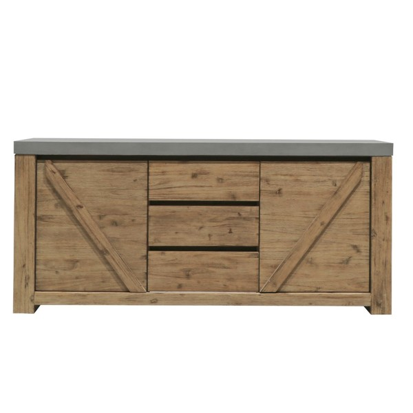 Alorac Acacia and Concrete Sideboard