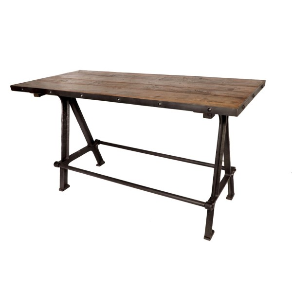 Wood & Iron Bar Table
